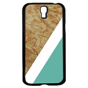 Teal Geometric Shape on Tan Marble Hard Snap on Phone Case (Galaxy s4 IV)