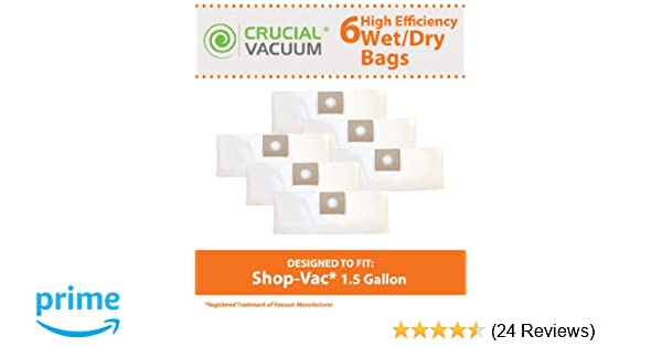 Amazon 6 Replacements For Shop Vac Type A Bags Fit 15 Gallon