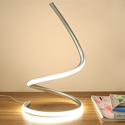 Wsxxn 15WLED eye protection small desk lamp student desk creative plug touch sensing adjustable luminous lamp personality creative fashion home table lamp (Color : Silver) by Wsxxn