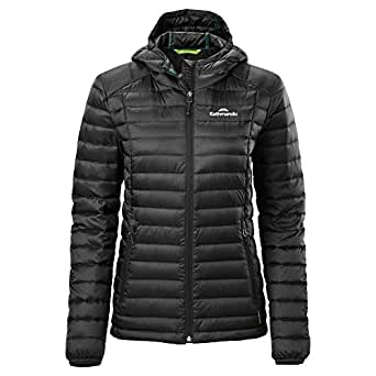Kathmandu Heli Hooded Lightweight Water-Repellent Warm Womens Down Jacket v3 Women's Black 10