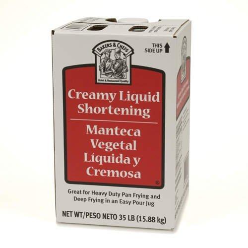 Bakers & Chefs Creamy Liquid Shortening - 35 lb. - CASE PACK OF 4