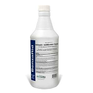 BenzaRid 32ounce Kills Black Mold, MRSA, Staph, Mites, H1N1, H5N1 Viruses, Blood Born Pathogens, Antibacterial, Fungicide, Water Damage