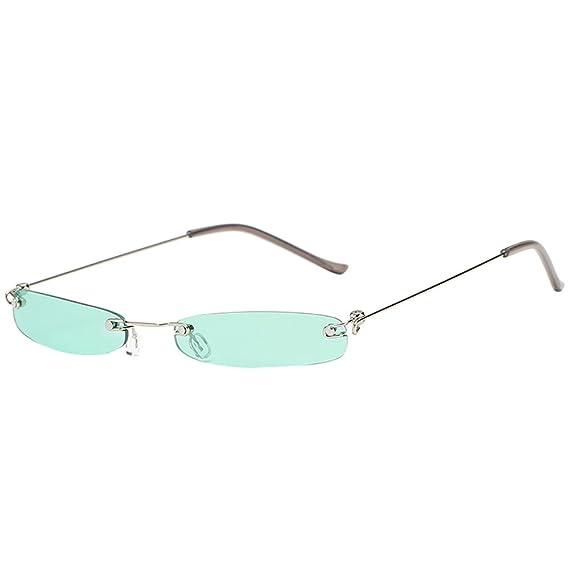 311dbdb701 Cebbay-Gafas Retro Mujer Hombre Transparente pequeño Marco Gafas de Sol de  Moda: Amazon.es: Ropa y accesorios