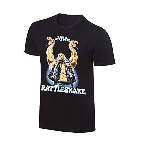 WWE Authentic Wear Stone Cold Steve Austin Rattlesnake Retro T-Shirt Black 2XL