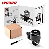 LYCAON Bicycle Bike Bell (One Size Fit All) with Instruction Loud Crisp Sound