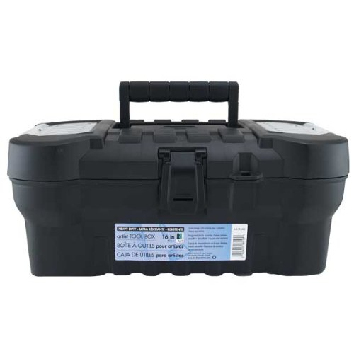 Art Alternatives Black Heavy-Duty Tool Box 16 Inch MACPHERSON 4336937592