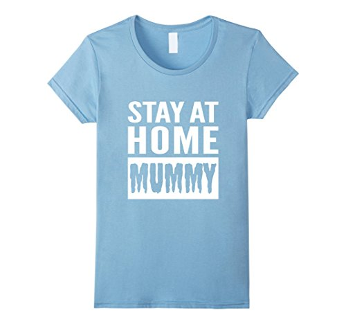Womens FUNNY HALLOWEEN MUMMY T-SHIRT [OUTFIT & COSTUME/GIFT IDEA] Large Baby (Baby Parent Halloween Costume Ideas)