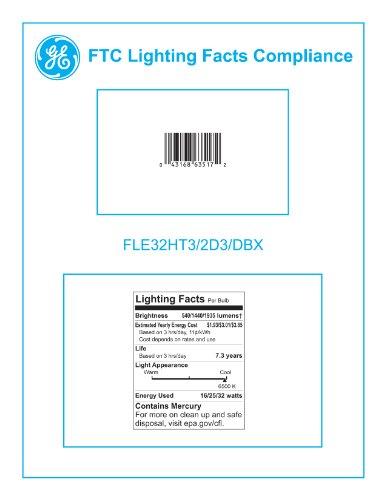 GE Lighting 63517 Energy Smart CFL 3-way 16/25/32-Watt (150-watt replacement) 540/1440/1935-Lumen T3 Spiral Light Bulb with Medium Base, 6-Pack by GE Lighting (Image #3)