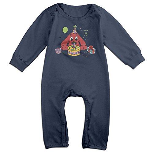 infant-boys-girls-clifford-the-big-red-dog-cute-short-sleeve-romper-onesie-navy-18-months