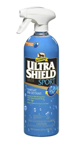 Absorbine 32 Fl Oz Ultra Shield Sport Sweat Resistant Fly Spray Repels and Kills Insecticide and (Fly Shield)