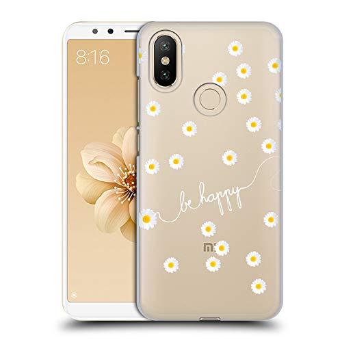 Official Monika Strigel Clear Happy Daisy Hard Back Case Compatible for  Xiaomi Mi A2 / Mi 6X