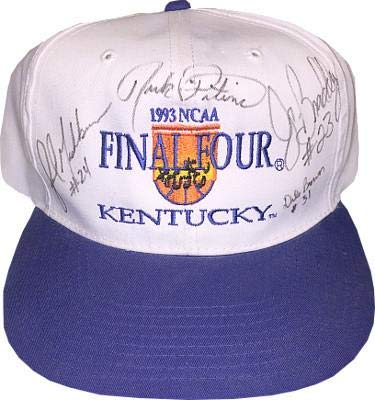 sale retailer 0c934 61ada Image Unavailable. Image not available for. Color  Rick Pitino signed 1992-93  Kentucky Wildcats Final Four Cap- 4 sigs- Jamal