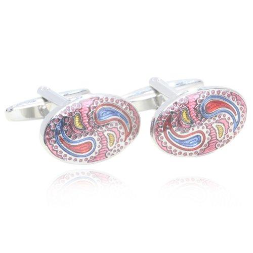 Digabi Oval Colorful Glazing Cufflinks with Gift Box