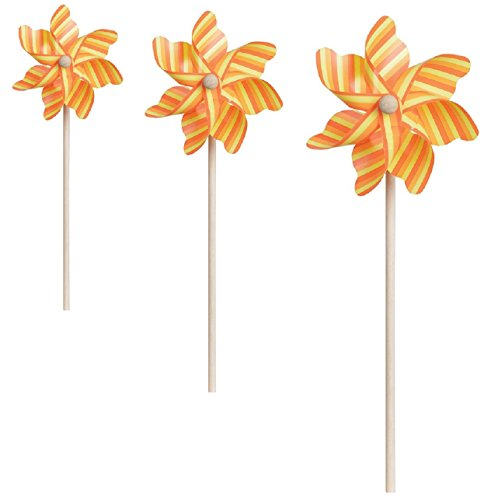 Orange Pinwheel (Bundle of 3 PINWHEEL Spinners-7