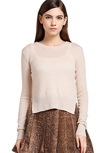FOURTYFOUR Women's Thin Short Pure Sweater XXXX-Large White by FOURTYFOUR