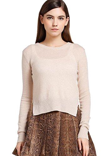 FOURTYFOUR Women's Thin Short Pure Sweater XXXX-Large White by FOURTYFOUR