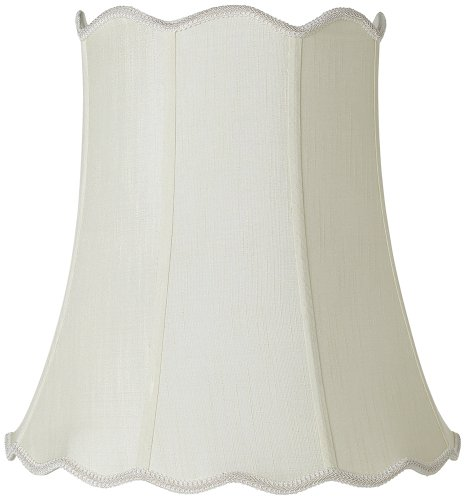 Imperial Creme Scallop Bell Lamp Shade 12x18x18 (Spider) (Scallop Bell)