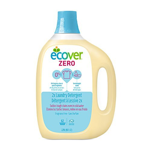 Ecover Natural Laundry (Ecover Natural Plant-based 2x Laundry Detergent, Fragrance Free, 93 ounce (Pack of 4) by Ecover)