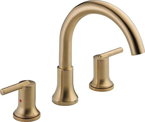 Delta Faucet T2759-CZ Trinsic, 3-hole Roman Tub Trim, Champagne Bronze