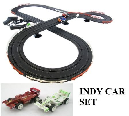 JJ_TOYS Indy Style Slot Car Track Ho Scale Race Set New Improved 2018 from JJ_TOYS