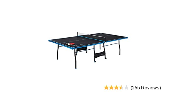 Superb Amazon.com : MD Sports Table Tennis Set, Regulation Ping Pong Table Net,  Paddles Balls (8 Pieces)   Black U0026 Light Blue : Sports U0026 Outdoors