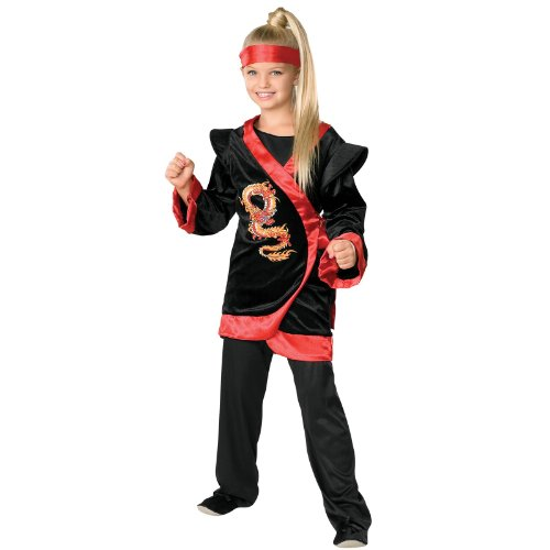 Child's Red Dragon Ninja Costume - Medium