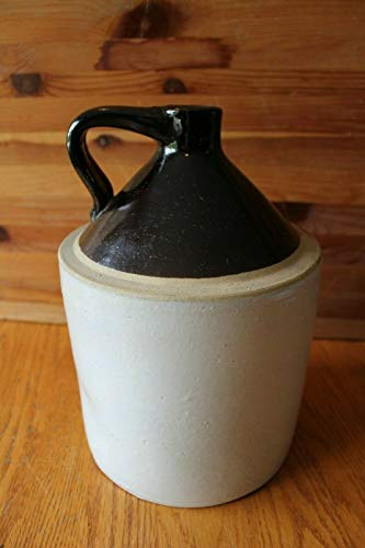 Salt Glaze Crock - Jug Salt Glaze Two Tone Crock stoneware Moonshine Whiskey 11