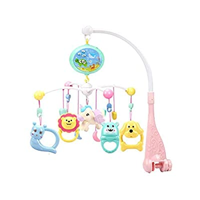 isilky Baby Musical Crib Mobile with Timing Function Projector and Lights, Hanging Rotating Rattles and Remote Control Music Box, Toy for Newborn 0-24 Months(Batteries Not Included)(Chinese Version): Home & Kitchen