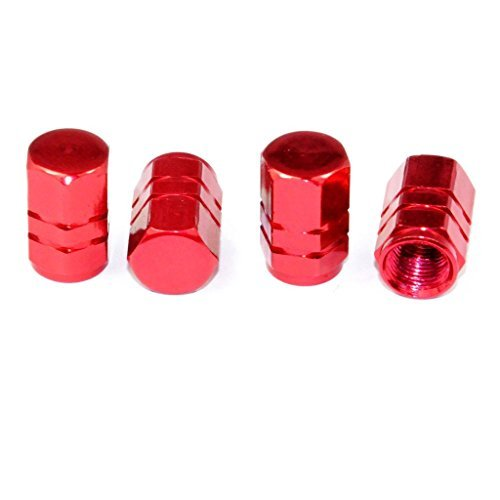Cutequeen Red Tire Air Valve Caps Fit All Schrader valve(Pack of 4) ()