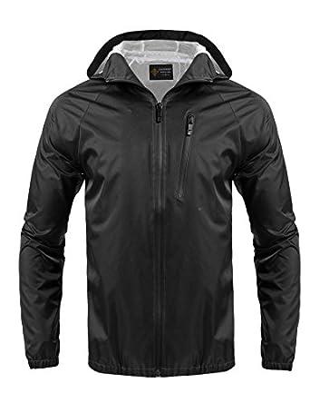 Coofandy Men's Waterproof Rain Jacket, Outdoor Hiking Coat ...
