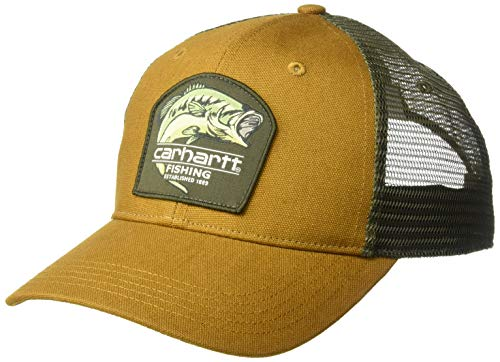Carhartt Men's Largemouth Bass Cap, Oiled Walnut, OFA