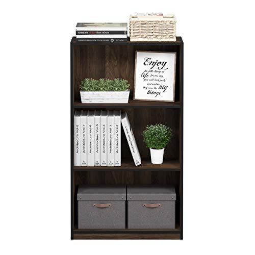 Furinno 99736CWN Basic 3-Tier Bookcase Storage Shelves, Columbia Walnut by Furinno (Image #4)