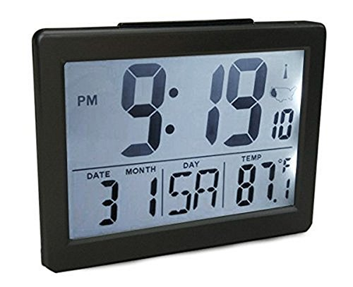 Atomic Desk/bedroom Alarm Clock Black-1.5