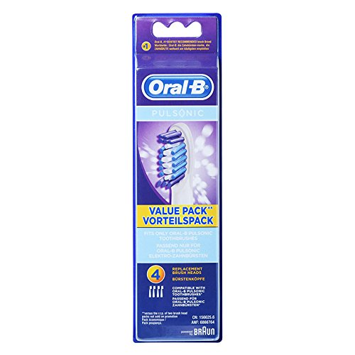 Braun Oral-B SR32-4 Pulsonic Value Pack Replacement Brush Heads 1Pack