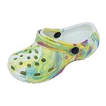 Sunville Childrens Tie Dye Garden Shoes Clogs