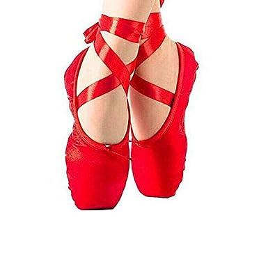 Amazon Girls Satin Pink Ballet Shoes Size