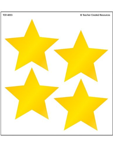 Teacher Created Resources Gold Star Wearem Badges  4853