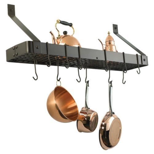 Old Dutch International Wall Mouned Pot Rack with Grid (Oiled Bronze)
