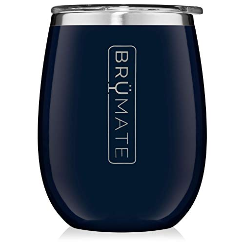 - BrüMate Uncork'd XL 14oz Wine Glass Tumbler With Splash-proof Lid - Made With Vacuum Insulated Stainless Steel (Navy Blue)