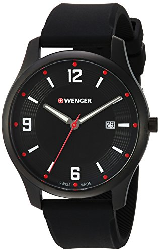Wenger-Mens-City-Active-Swiss-Quartz-Stainless-Steel-and-Silicone-Casual-Watch-ColorBlack-Model-011441111