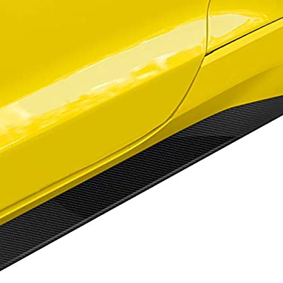 Charminghorse 2 Pieces Car 5D Carbon Fiber Vinyl Mustang GT Logo Side Stripes Lower Rocker Panel Decals Stickers for Ford Mustang 2015 2016 2020 2020 2020 Accessories: Automotive