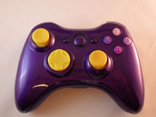 Glossy PURPLE Xbox 360 Modded Controller (Rapid Fire) COD Black Ops 2, MW2, MOD GAMEPAD LEDS (Modded 360 Controller Xbox Purple)