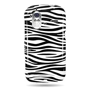 WIRELESS CENTRAL Brand Hard Snap-on Shield With WHITE BLACK ZEBRA Design Faceplate Cover Sleeve Case for HTC AMAZE 4G (T-MOBILE) with PRY Removal Tool Case [WCK973]