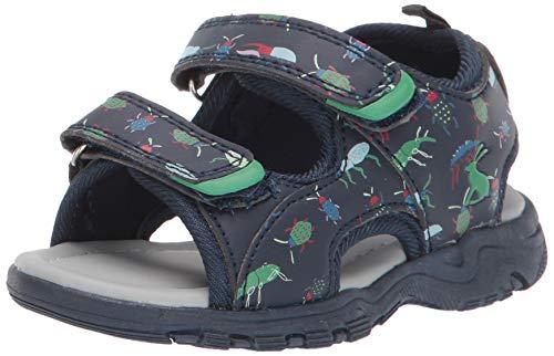 Joules Boys' Rockwell Sport Sandal, Navy Beetle, 1 M US Little Kid