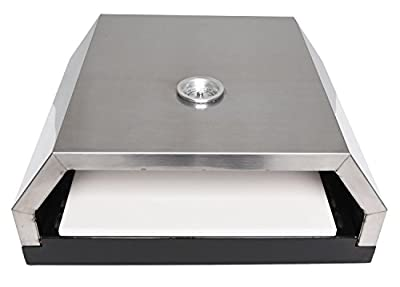 Zenvida Grill Top Pizza Oven with Stone for Gas or Charcoal Grill from Vilano