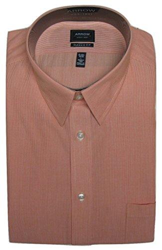 Arrow Men's Classic-Fit Fineline-Striped Wrinkle-Free Dress Shirt, 16.5 34/35