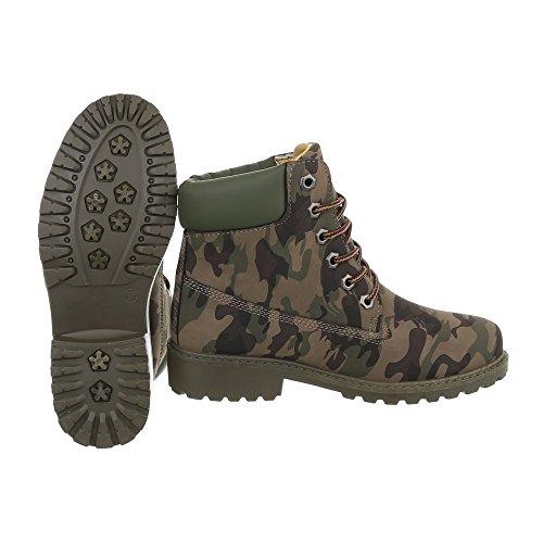 Ital-Design - Botas Militar Mujer caqui ...