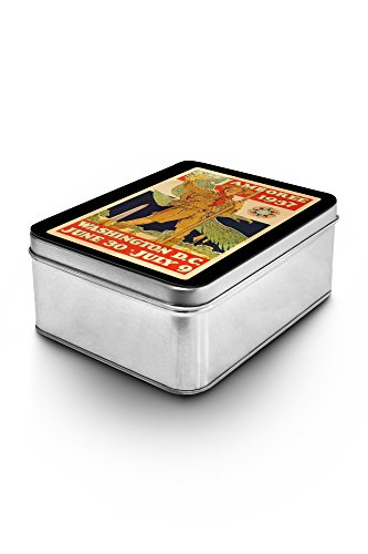 USA - Boy Scout Jamboree - (artist: Rockwell, Norman c. 1937) - Vintage Advertisement (Keepsake Tin)