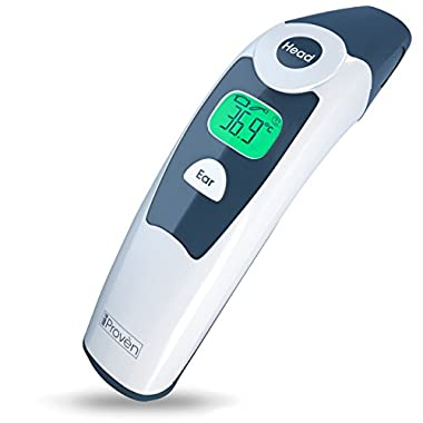 Medical Forehead and Ear Thermometer - the Authentic FDA Approved Professional Thermometer iProven DMT-116A - Unmatched Performance with Revolutionized Technology (2015)