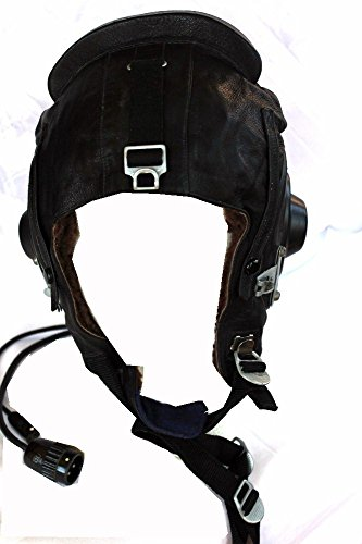 Soviet Air force USSR Afghan War Leather Helicopter Winter Helmet (Helicopter Army Helmet)